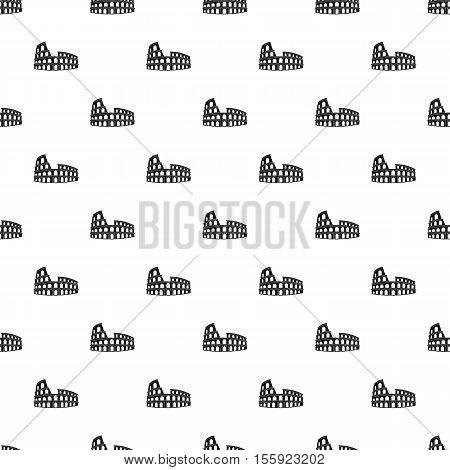 Roman Colosseum pattern. Simple illustration of Roman Colosseum vector pattern for web