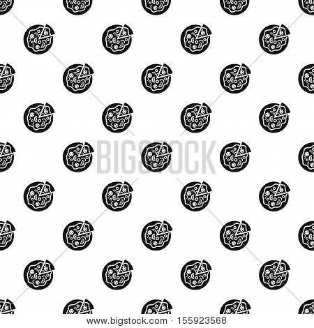 Italian pizza pattern. Simple illustration of italian pizza vector pattern for web