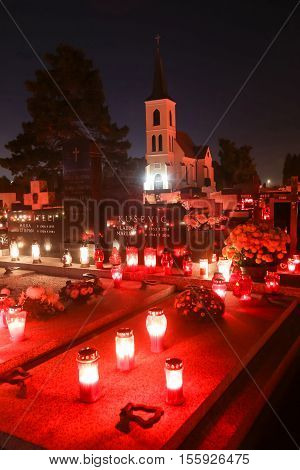 Ornated Graves On All Saints Day