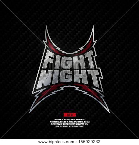 Fight Night Sign.