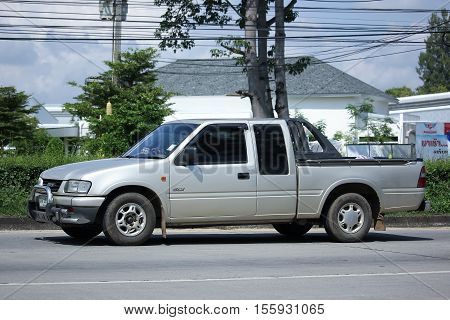 CHIANG MAI THAILAND - OCTOBER 9 2016: Private Pick up Car Isuzu Dragon Power. On road no.1001 8 km from Chiangmai city.