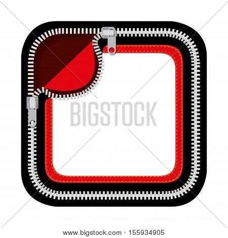 multicolor pocket with pair zippers vector illustration
