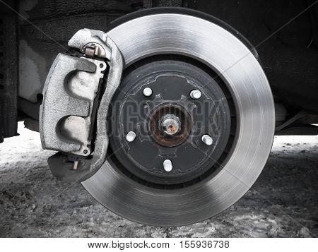 Car Wheel, Rotor Disk And Brake