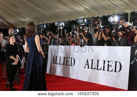 LOS ANGELES - NOV 9:  Marion Cotillard, Photographers at the