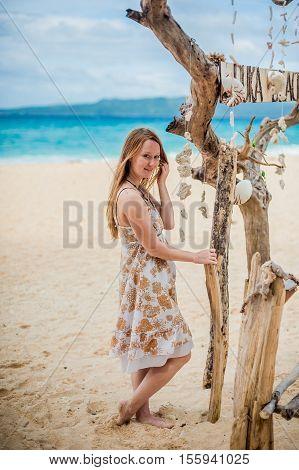 Girl On The Beach Puka , Boracay