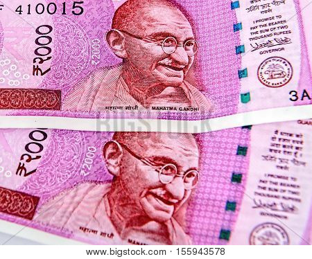New indian currency notes of 2000 rupees