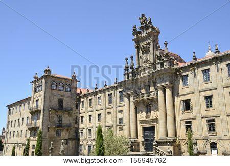 Monastery of San Martin Pinario a former Benedictine monastery in the city of Santiago de Compostela Galicia Spain.
