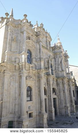 Northern facade of the cathedral of Santiago de Compostela Galicia Spain