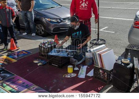Street Artist, San Francisco, Usa