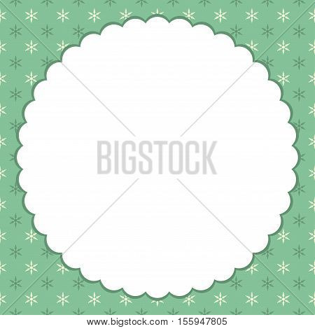 abstract Christmas background with snowflakes. Vector card.