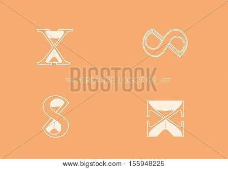Set Creative Logos Vector & Photo (Free Trial) | Bigstock