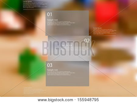 Illustration Infographic Template With Shape Of Horizontally Divided Bar On Blurred Background