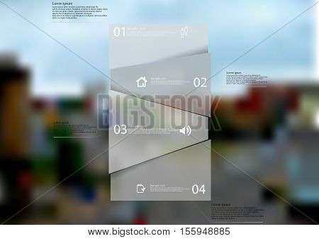 Illustration Infographic Template With Shape Of Randomly Divided Bar On Blurred Background