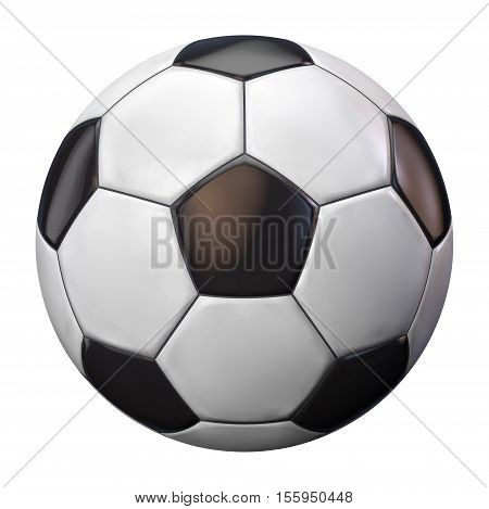 Soccer Ball Isolated on White Background. Football with Clipping Path Included.