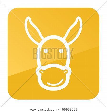 Donkey icon. Farm animal vector illustration, eps 10