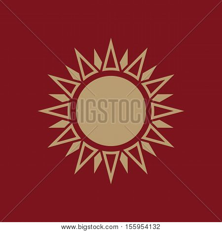 The weather icon. Sunrise and sunshine, weather, sun symbol. UI. Web. Logo. Sign Flat design App Stock vector