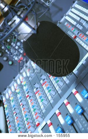 Studio Microphone And Editing Suite