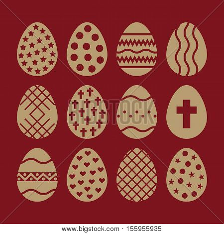 The egg and easter 12 icon. Easter, egg symbol. UI. Web. Logo. Sign. Flat design App Stock vector