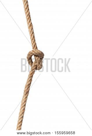 Rope with knot isolated over white background