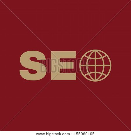 The SEO icon. WWW and browser, development, seo symbol. UI. Web. Logo. Sign Flat design App Stock vector