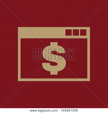The payment icon. Pay and e-commerce, dollar, money, payment symbol. UI. Web. Logo Sign Flat design App Stock vector