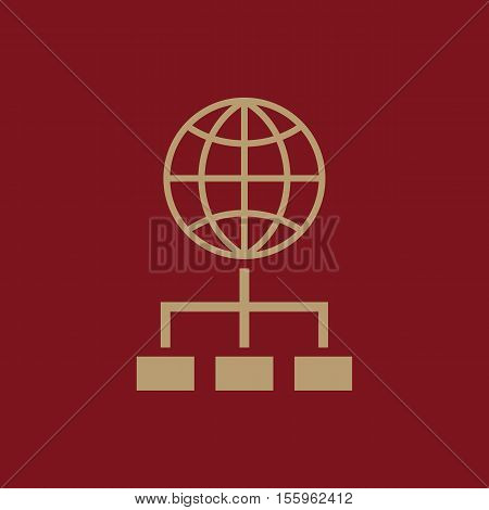 The SEO icon. WWW and browser, development, search, SEO symbol. UI. Web. Logo Sign Flat design App Stock vector