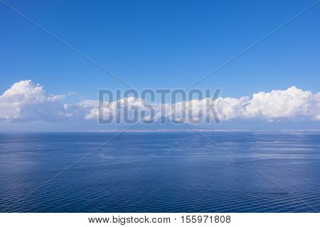 View of Mount Vesuvius from Sorrento Italy on a Clear Day