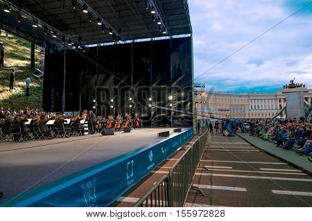 Saint-Petersburg.19 Jun 2016. The film and music festival