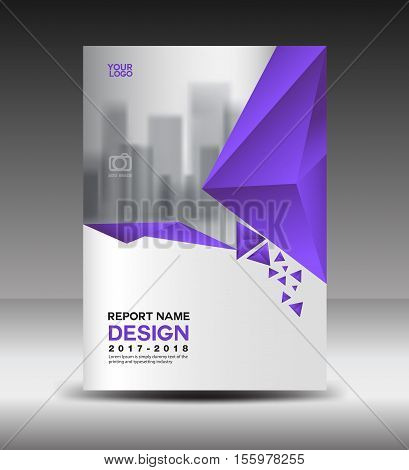 Cover design Annual report vector illustration, business brochure flyer template, book cover, Purple cover advertisement template, magazine cover