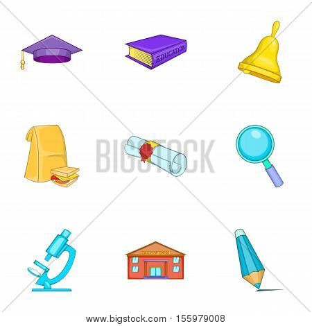 Magistracy icons set. Cartoon illustration of 9 magistracy vector icons for web
