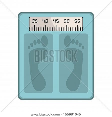 bathroom Scale icon over white background, care and health figure. vector illustration