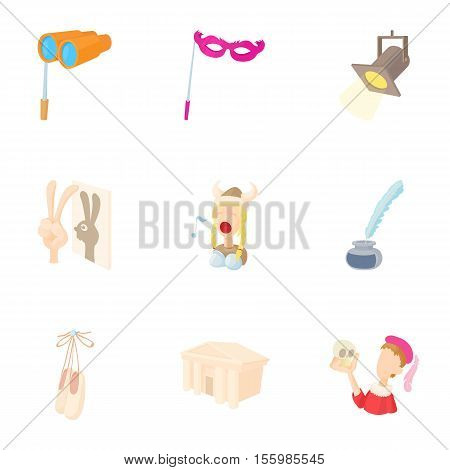 Playhouse icons set. Cartoon illustration of 9 playhouse vector icons for web