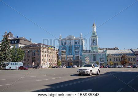 Kiev Ukraine - August 27 2016: View of the Kontraktova Square