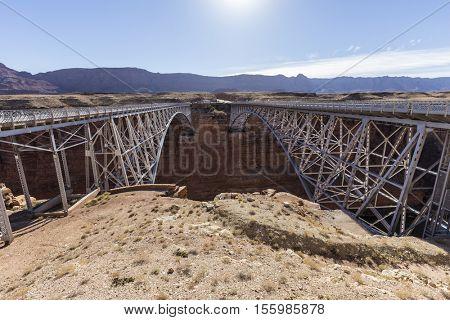 Marble Canyon bridges near Glen Canyon National Recreation Area in Northern, Arizona.