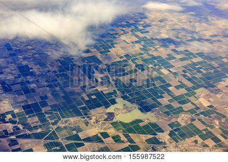 Aerial View Of Hinckley, Desert, Oasis, Delta, Sutherland