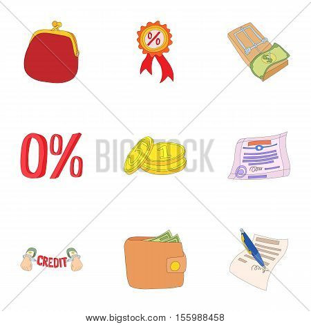 Funding icons set. Cartoon illustration of 9 funding vector icons for web