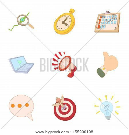 Internet setup icons set. Cartoon illustration of 9 internet setup vector icons for web