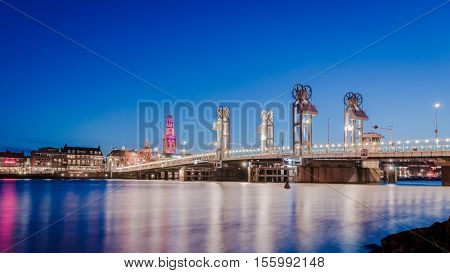 Night pictures of the Historical City of Kampen Overijssel Netherlands by Night