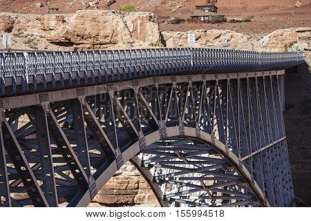 Marble Canyon bridge spanning the Colorado River near Glen Canyon National Recreation Area in Arizona.