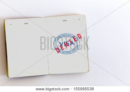 Visa Admitted Stamp In Passport