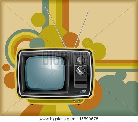 vector retro tv background
