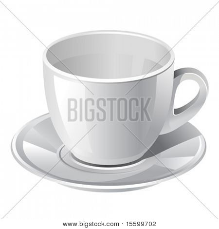 white vector coffee cup. There are VARIETY of coffee things in my portfolio ;) Please, take a look !