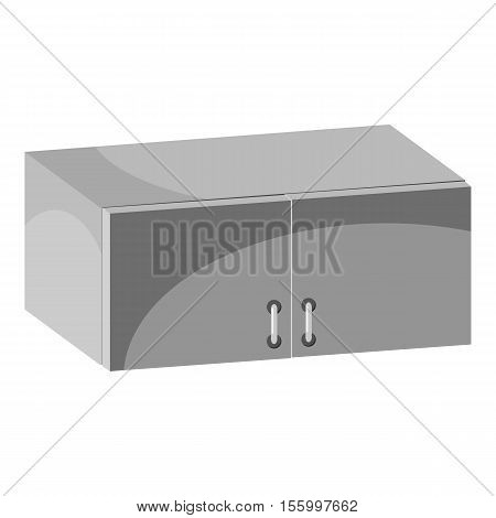Drawer icon. Gray monochrome illustration of drawer vector icon for web design