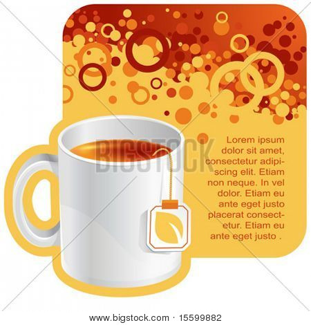 vector tea background for your promotion. There are a number of SIMILAR backgrounds in my portfolio ;)