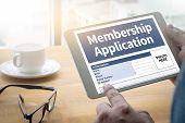 Membership Register to Application Form Member and Membership poster