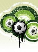 Football background vector poster