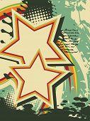 grunge star vector artistic retro design poster