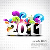 artistic new year background colorful design poster