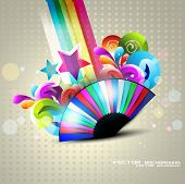 abstract eps10 colorful background design poster