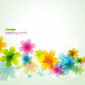 beautiful colorful flower eps10 vector illustration poster